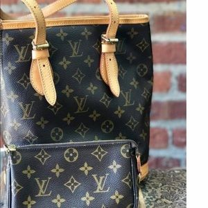 💯Auth LOUIS VUITTON Petit Bucket Bag w/Pouch🥰‼️
